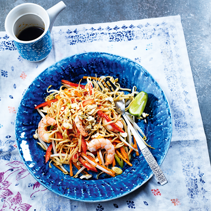 Photo of Prawn noodles with sweet chilli, ginger & carrot by WW