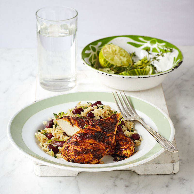 Photo of Jerk chicken with rice & beans by WW