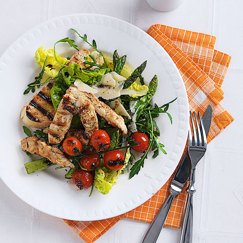 Photo of Griddled chicken salad with asparagus & parmesan by WW