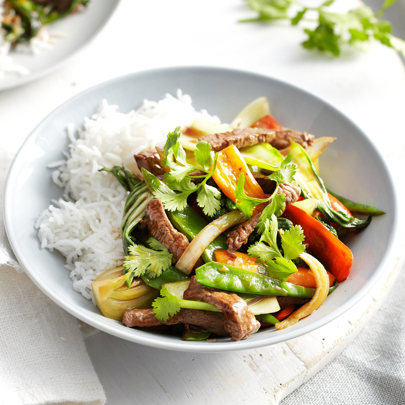 Photo of Stir-fried beef with pak choi & peppers by WW