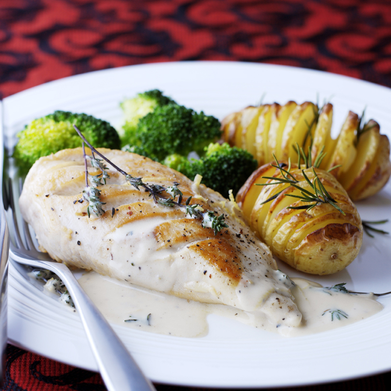 Chicken In Creamy Pernod Sauce With Rosemary Roast Potatoes Healthy Recipe Ww Uk