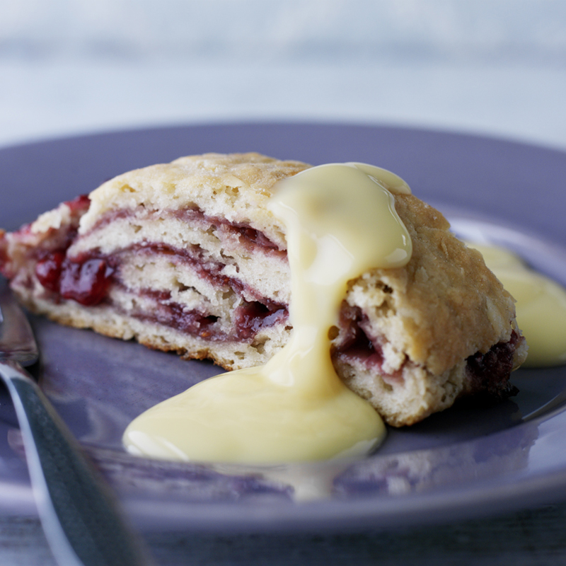 Photo of Jam roly poly with custard by WW