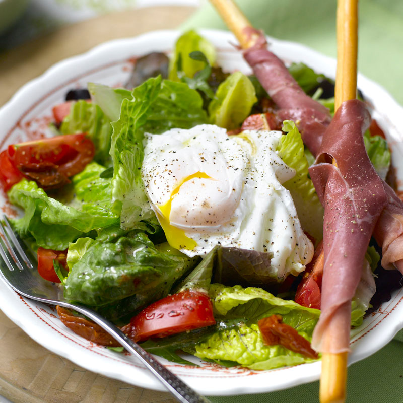 Photo of Poached egg salad with parma ham by WW