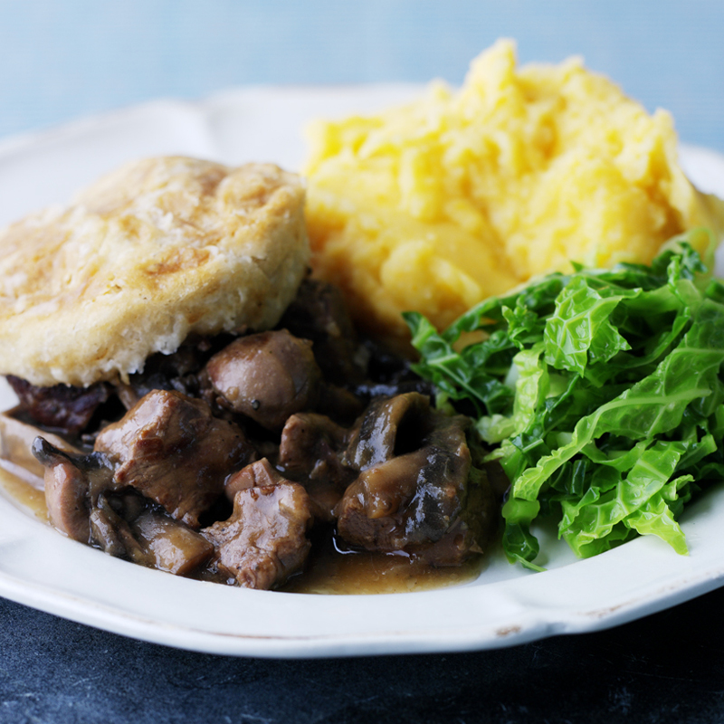 Photo of Steak & kidney puddings with butternut mash by WW