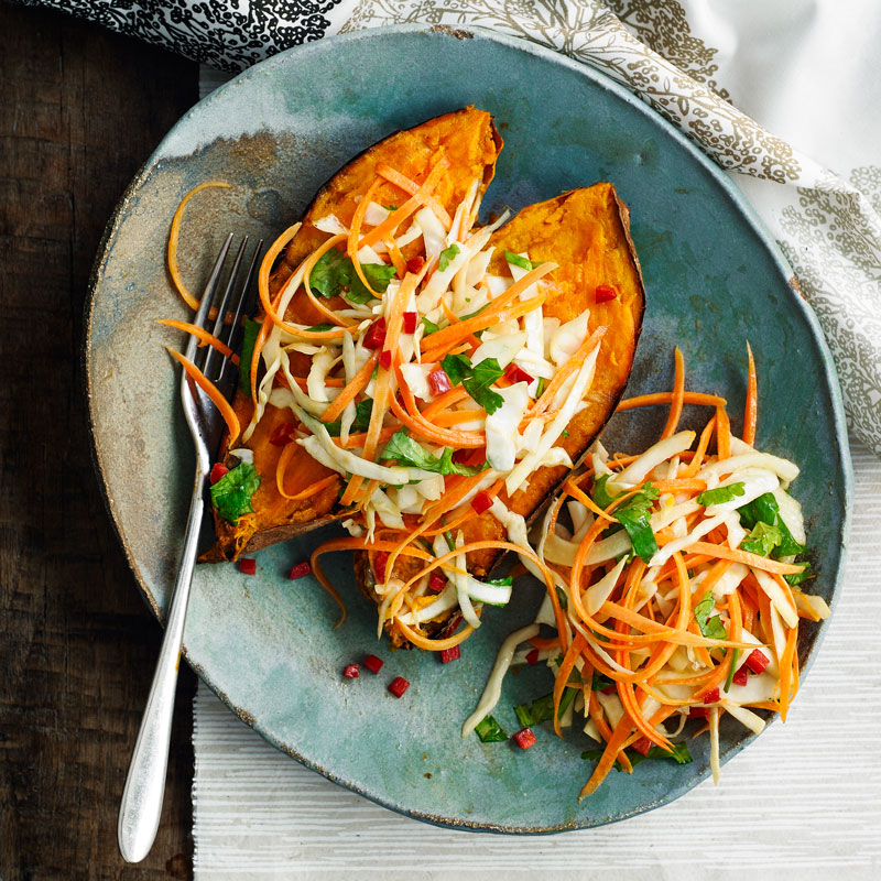 Photo of Baked sweet potato with Asian slaw by WW