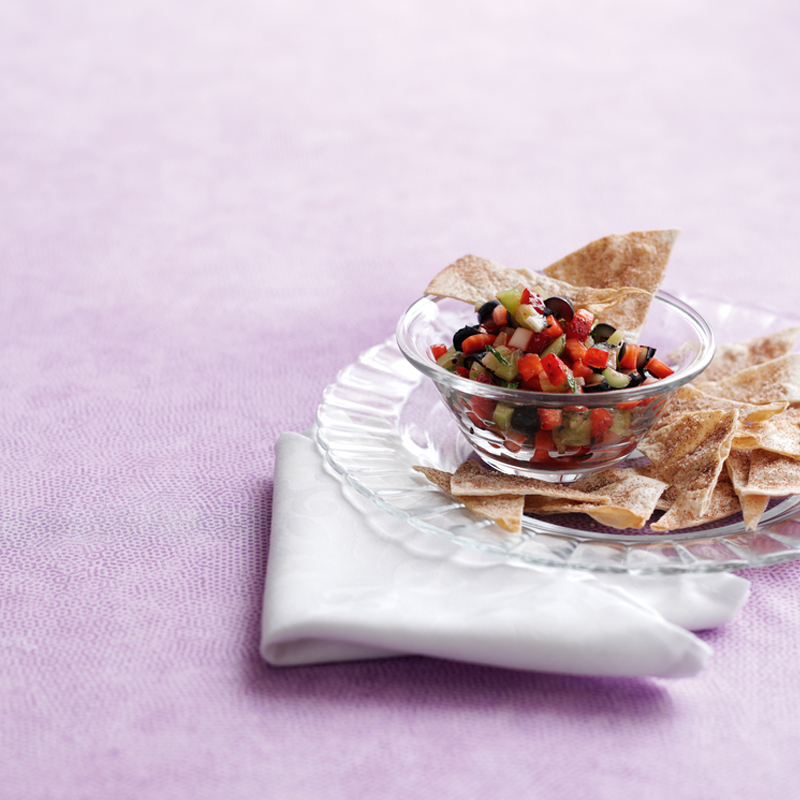 Photo of Cinnamon Chips with Fresh Fruit Salsa. by WW