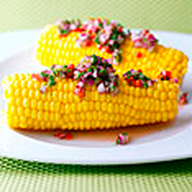 Photo of Corn on the Cob with Chilli Herb Dressing. by WW