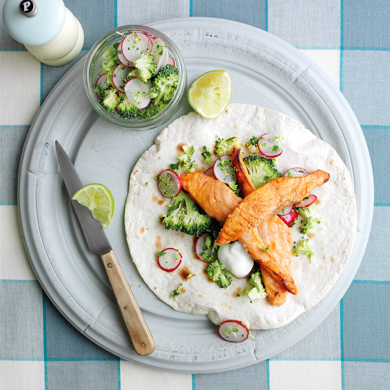 Photo of Salmon and lime tacos by WW