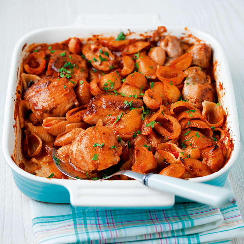 Photo of Fragrant chicken and tomato pasta bake by WW