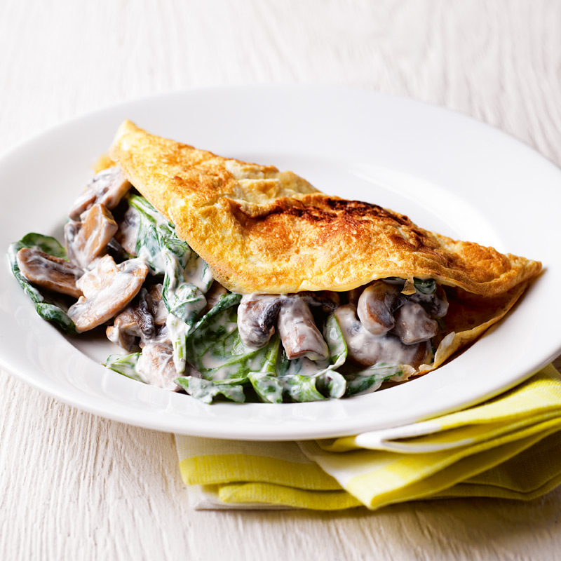 Photo of Mushroom and spinach omelette by WW