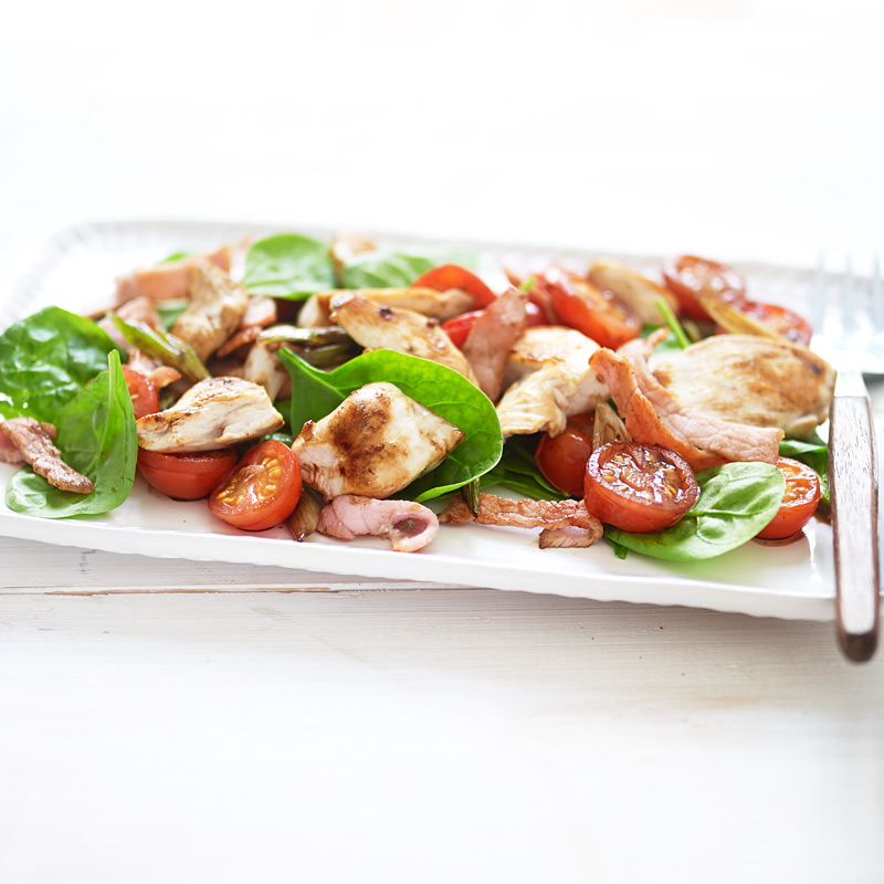 Photo of Warm chicken and bacon salad by WW