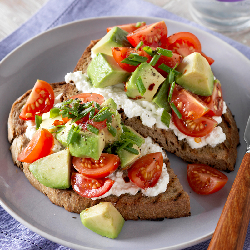 Photo of Rye toast with avocado and tomato salsa by WW