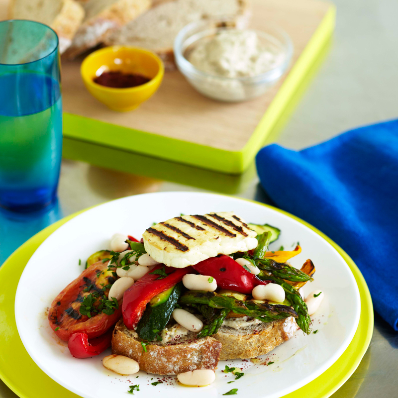 Photo of Grilled vegetable and halloumi stack by WW