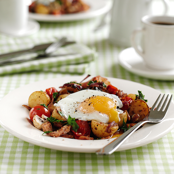 Photo of Breakfast hash with poached eggs by WW